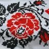 Оригинальные полотенца в украинском стиле. ТМ Магия комфорта, арт. Роза: красное и белое