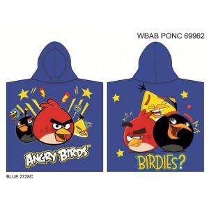 Полотенце-пончо Angry Birds (голубой)