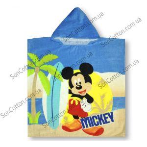 Mickey 70*140. Полотенце-пончо детское с капюшоном
