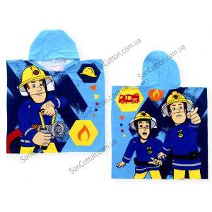 Спасатели 60*120. Полотенце-пончо детское с капюшоном