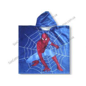 Spider-Man 70*140. Полотенце-пончо детское с капюшоном