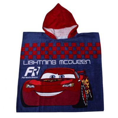 Полотенце-пончо Тачки. Formula Racer 60*120, детское, с капюшоном