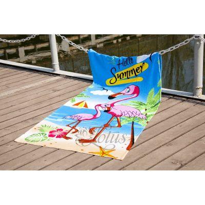 Пляжное полотенце Фламинго. ТМ Golden Daisy