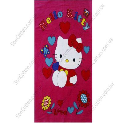 Пляжное полотенце Hello Kitty. ТМ Golden Daisy