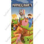 Пляжное полотенце Minecraft (Майнкрафт)