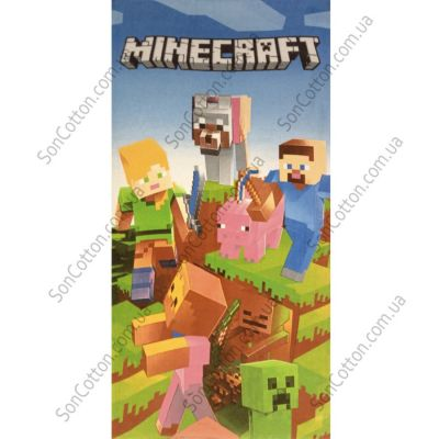 Пляжное полотенце Minecraft (Майнкрафт). ТМ Golden Daisy