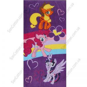 Пляжное полотенце Радужные гонки (My Little Pony)