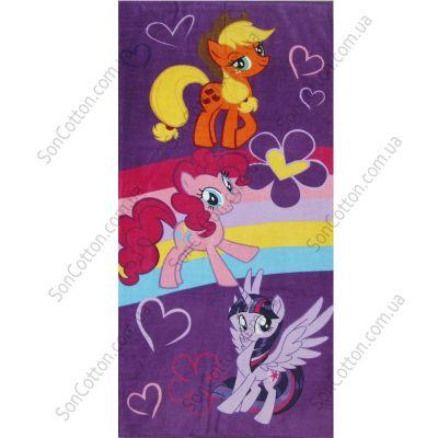 Пляжное полотенце Радужные гонки (My Little Pony). ТМ Golden Daisy