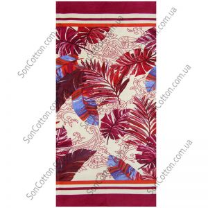Пляжное полотенце Гармония (красный)