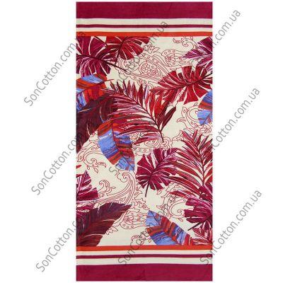 Пляжное полотенце Гармония (красный). ТМ Golden Daisy