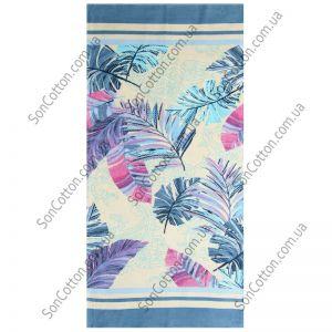 Пляжное полотенце Гармония (синий)