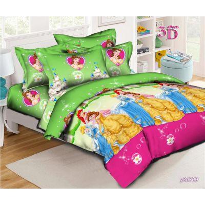 Принцессы Диснея. Детский комплект постельного белья