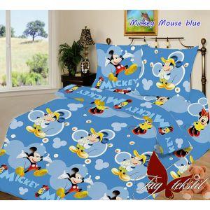 Mickey Mouse blue. Детский полуторный КПБ