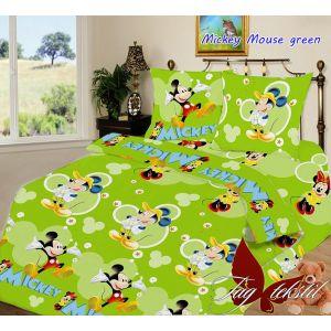 Mickey Mouse green. Детский полуторный КПБ