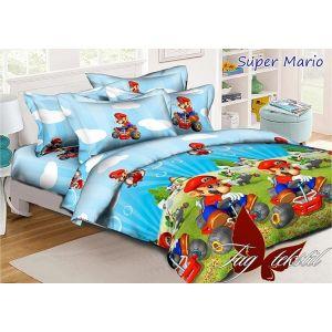 Super Mario. Детский полуторный КПБ
