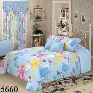 Полуторный КПБ Принцессы (голубой), арт. 5660. Детское постельное белье Вилюта, ранфорс