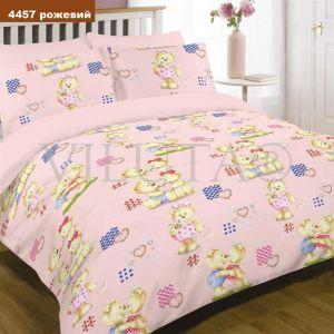 Арт. 4457 Розовый (ранфорс) КПБ детский в кроватку