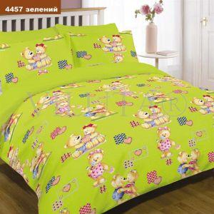 Арт. 4457 Зеленый (ранфорс) КПБ детский в кроватку