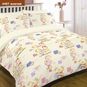 Арт. 4457 Желтый (ранфорс) КПБ детский в кроватку