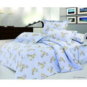 Арт. 5507 Блакитний (ранфорс) КПБ в дитяче ліжечко