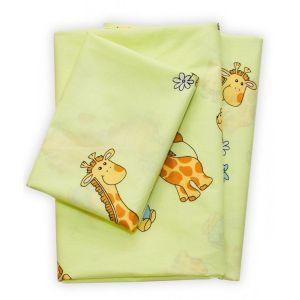 Арт. 5507 Зелений (ранфорс) КПБ в дитяче ліжечко