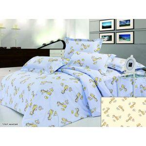 Арт. 5507 Жовтий (ранфорс) КПБ в дитяче ліжечко