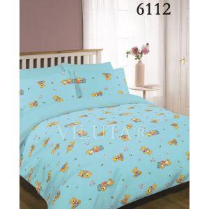 Арт. 6112 Блакитний (ранфорс) КПБ в дитяче ліжечко