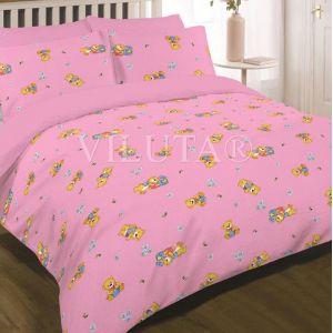 Арт. 6112 Розовый (ранфорс) КПБ детский в кроватку