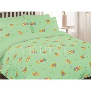 Арт. 6112 Зелений (ранфорс) КПБ в дитяче ліжечко