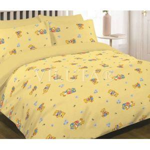Арт. 6112 Жовтий (ранфорс) КПБ в дитяче ліжечко
