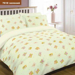 Арт. 7618 Зеленый (ранфорс) КПБ детский в кроватку