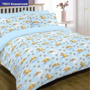 Арт. 7823 Блакитний (ранфорс) КПБ в дитяче ліжечко