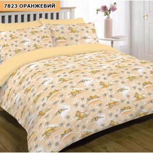 Арт. 7823 Оранж (ранфорс) КПБ в дитяче ліжечко