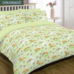 Арт. 7823 Зелений (ранфорс) КПБ в дитяче ліжечко