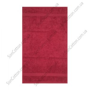 Бордовое полотенце махровое Азербайджан