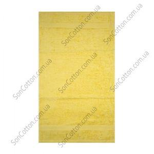 Желтое полотенце махровое Азербайджан