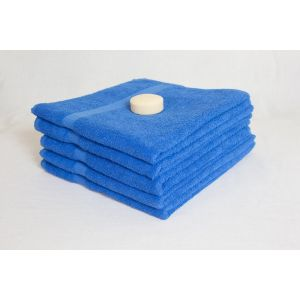 Насыщенно-голубое полотенце махровое Братислава