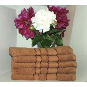 Светло-коричневое полотенце махровое Братислава