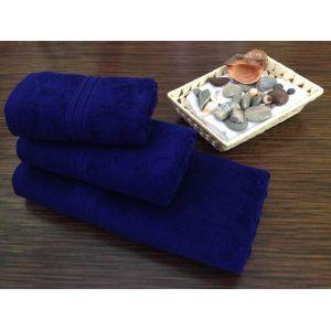 Темно-синее полотенце махровое Братислава