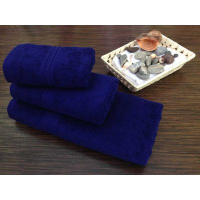 Махровое полотенце Темно-синее, ТМ Братислава - Узбекистан