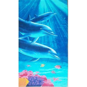 Пляжное полотенце Дельфины 2