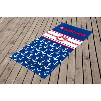 Пляжное полотенце Якорь 8. ТМ Golden Daisy