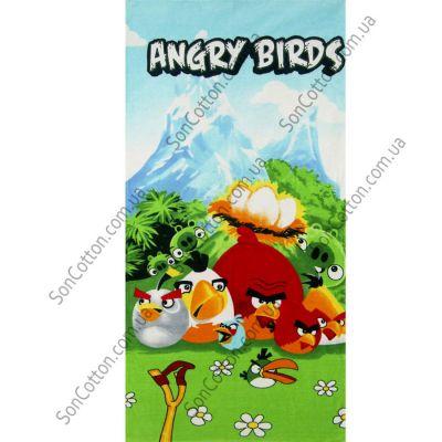 Пляжное полотенце Angry Birds. ТМ Golden Daisy