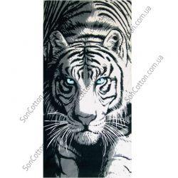 Пляжное полотенце Белый Тигр. ТМ Golden Daisy