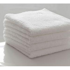Basic Белый. Махровое полотенце однотонное