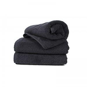 Basic Черный (400 г/м²). Махровое полотенце однотонное