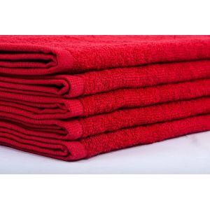 Basic Красный. Махровое полотенце однотонное