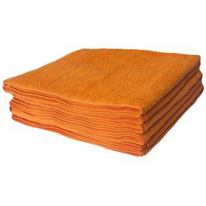 Basic Оранжевый. Махровое полотенце однотонное