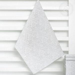 Вензель серый. Кухонное полотенце вафельное