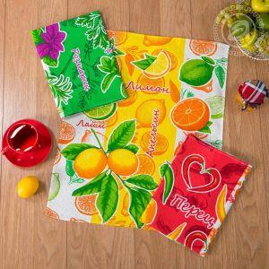 Витамины. Кухонное полотенце вафельное